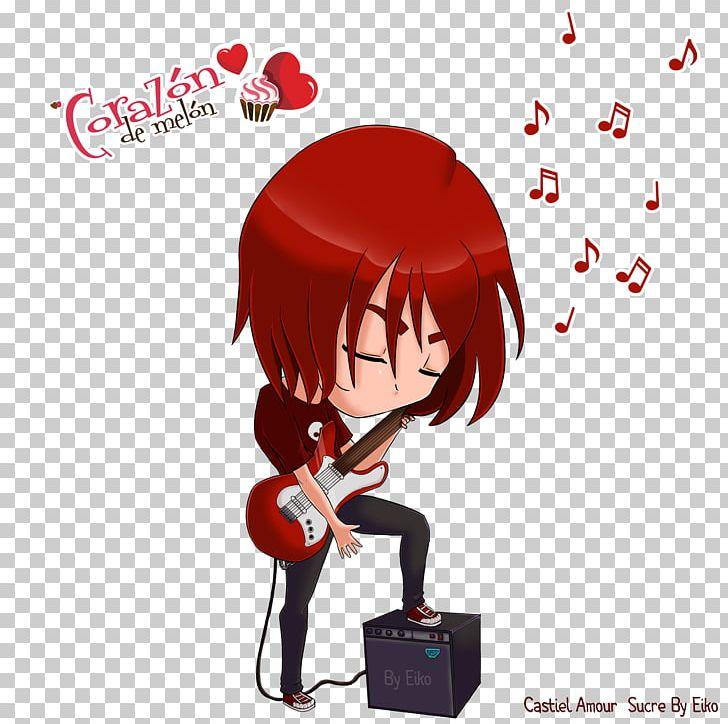 Amour Sucré Castiel Fan Art Guitar Boufara Png Clipart