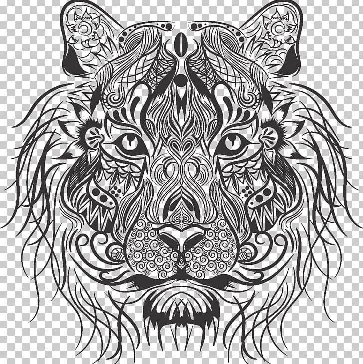 Tiger Lionhead Rabbit Drawing Whiskers PNG, Clipart, Animals, Art, Big Cats, Black, Carnivoran Free PNG Download