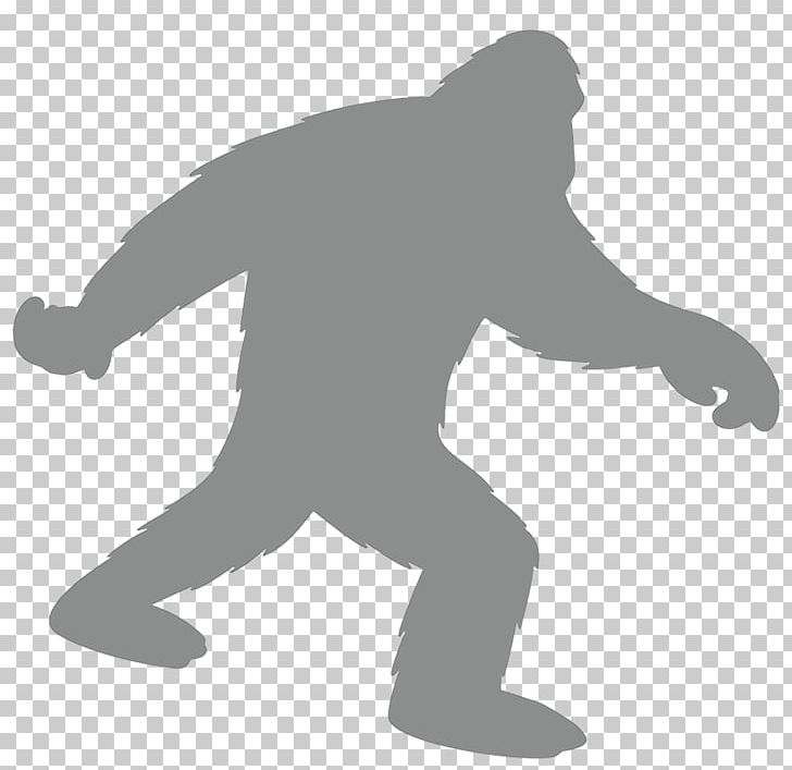 Bigfoot Graphics Yeti Silhouette Png Clipart Angle
