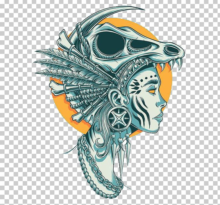 Skull Tribe Blue Totem PNG, Clipart, Agy, Art, Blue, Blue Abstract, Blue Background Free PNG Download