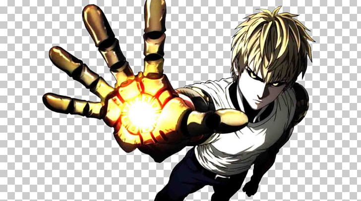 One Punch Man Genos Saitama Character Desktop Png Clipart Anime