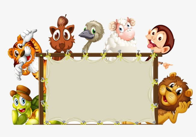 Animal Border Png Clipart Animal Animal Clipart Border Clipart Cartoon Frame Free Png Download