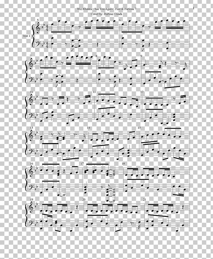 Sheet Music See You Again Musical Notation Piano Für Elise