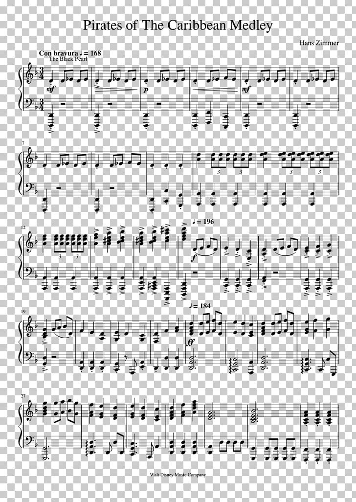 Sheet Music Pirates Of The Caribbean Black Pearl Piano PNG