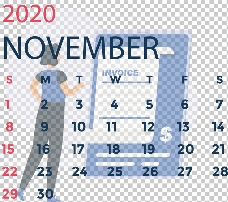 November 2020 Calendar November 2020 Printable Calendar PNG, Clipart, Angle, Area, Joint, Line, Meter Free PNG Download