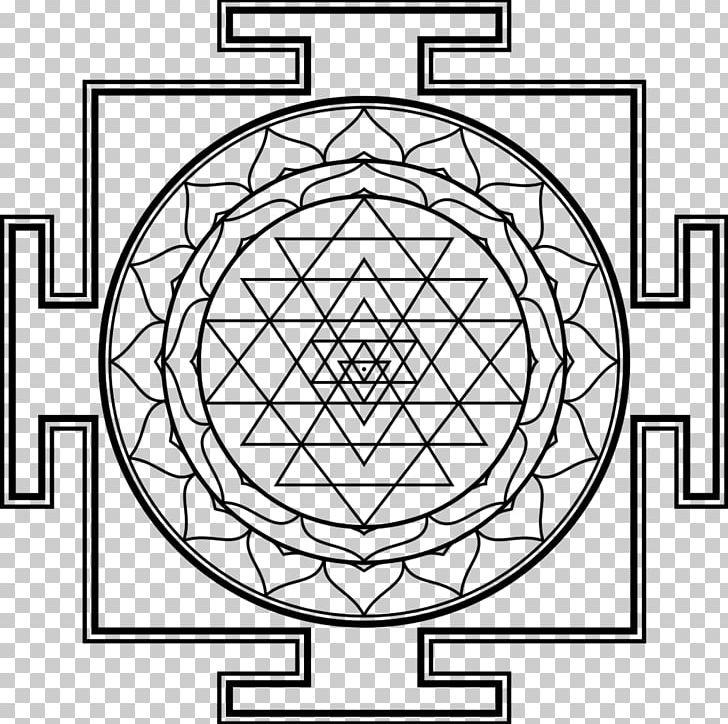 Lakshmi Sri Yantra Symbol PNG, Clipart, Angle, Area, Black