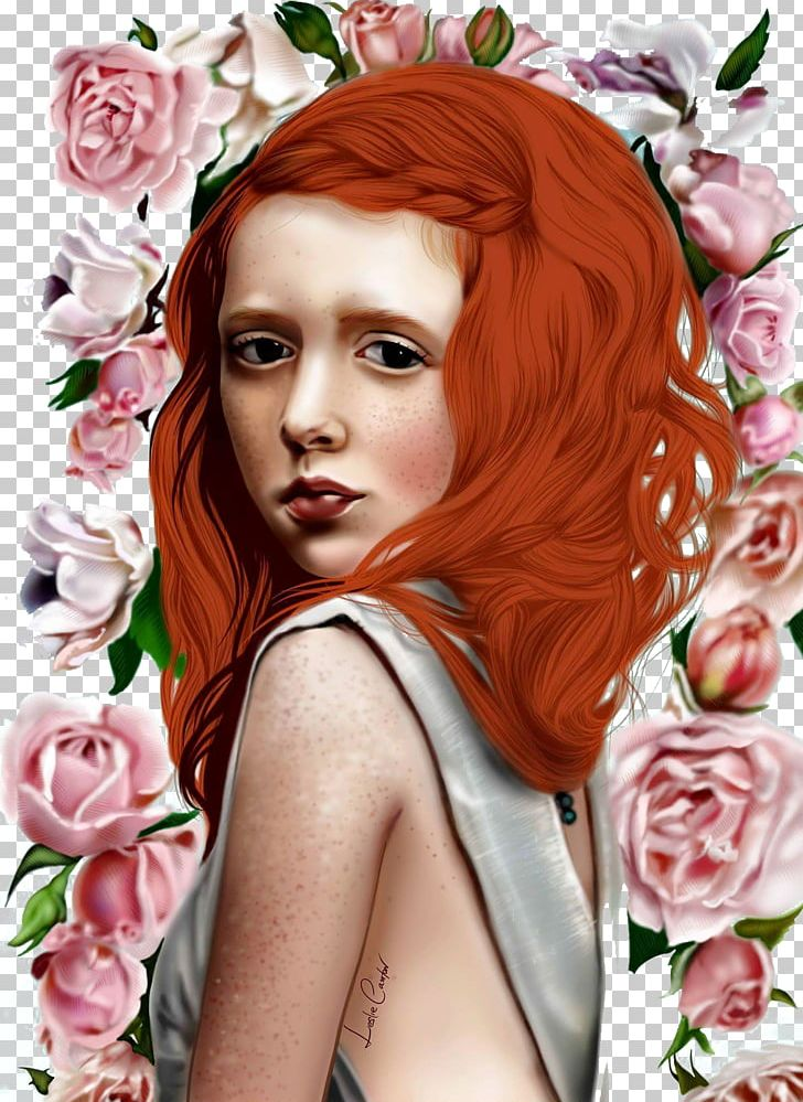 Red Hair Rose Drawing Illustration Png Clipart Art Baby