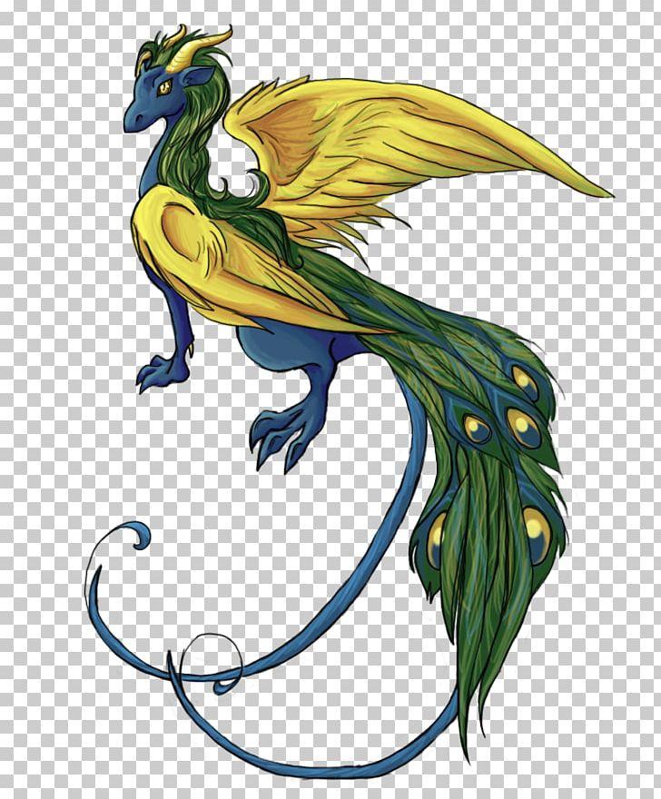 Peafowl Dragon Bird Feather PNG, Clipart, Animal, Art, Beak, Bird, Dragon Free PNG Download