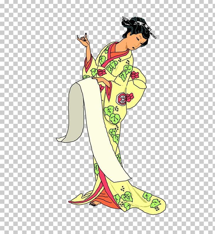Cartoon Geisha Illustration PNG, Clipart, Art, Cartoon, Clothing, Comics, Costume Free PNG Download