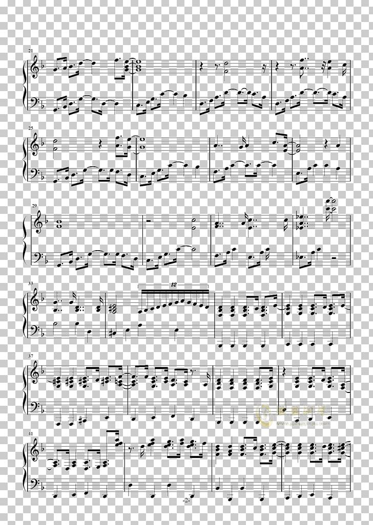 Because Of You Sheet Music Line Point Png Clipart Angle