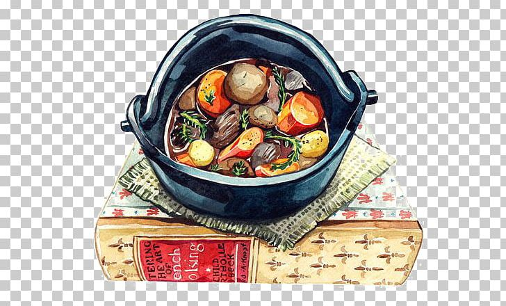 Beef Bourguignon Brunswick Stew Pottage Japanese Cuisine PNG, Clipart, Art, Beef, Beef Bourguignon, Book, Cartoon Free PNG Download