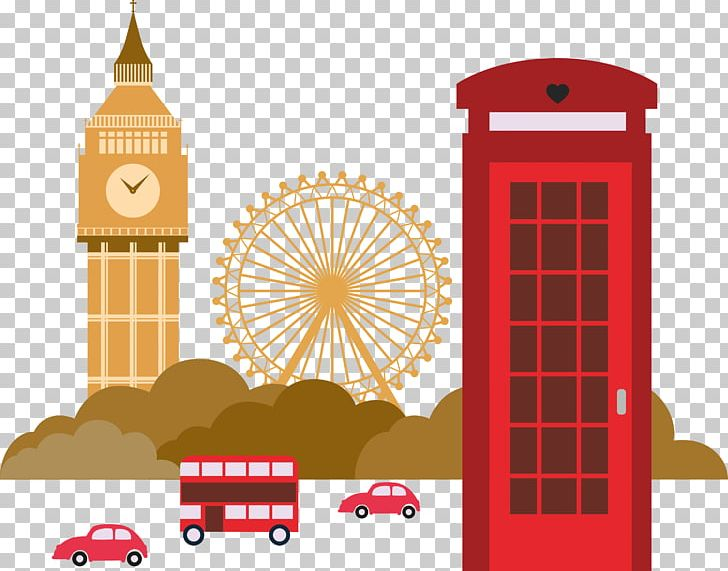 London Illustration Png Clipart Big Ben Building Bus Cartoon Cushion Free Png Download