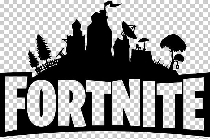 Fortnite Logo Black PNG, Clipart, Battle Royale, Battle Royale Game, Black And White, Brand, Download Free PNG Download