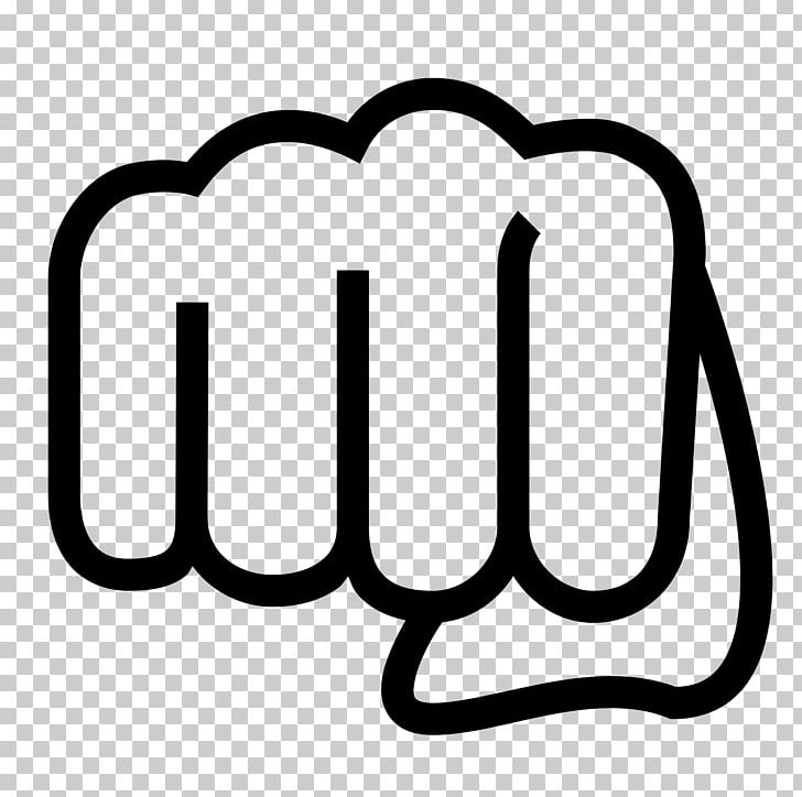 Computer Icons Punch Fist Png Clipart Area Black Black And White Boxing Brand Free Png Download