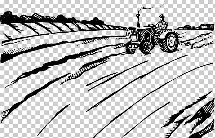 Agriculture Plough Farmer Tractor Illustration PNG, Clipart, Agricultural, Agricultural Land, Angle, Automotive Design, Black Free PNG Download