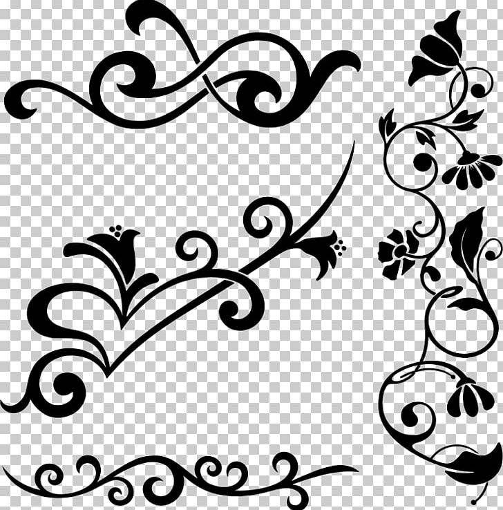 Flower Ornament Decorative Arts Floral Design PNG, Clipart, Art, Artwork, Black, Black And White, Branch Free PNG Download