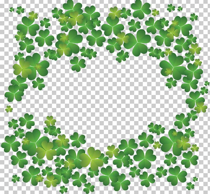 Four-leaf Clover Shamrock Saint Patricks Day PNG, Clipart, Background, Border, Circle, Clover, Clover Background Free PNG Download