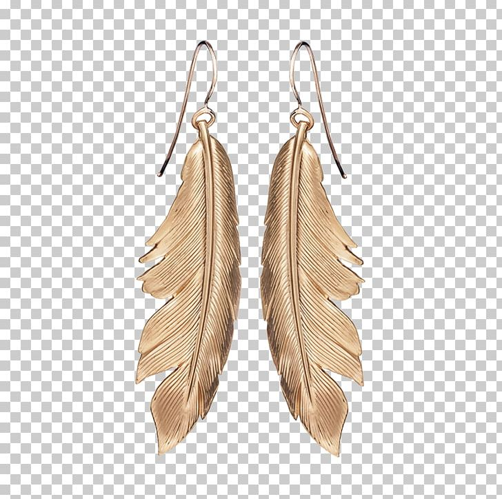 Earring Feather Gold Leaf Bird PNG, Clipart, Animals, Art