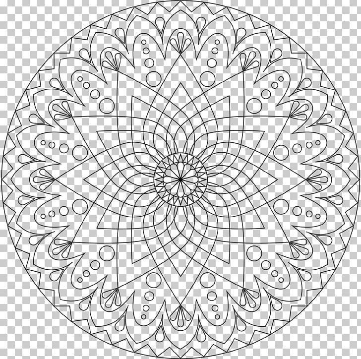 Coloring Book Mandala Art Therapy Adult PNG, Clipart, Adult ...