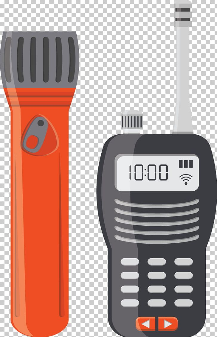 Microphone Walkie-talkie Flashlight PNG, Clipart, Audio, Blue Flashlight, Download, Electronic Device, Electronics Free PNG Download