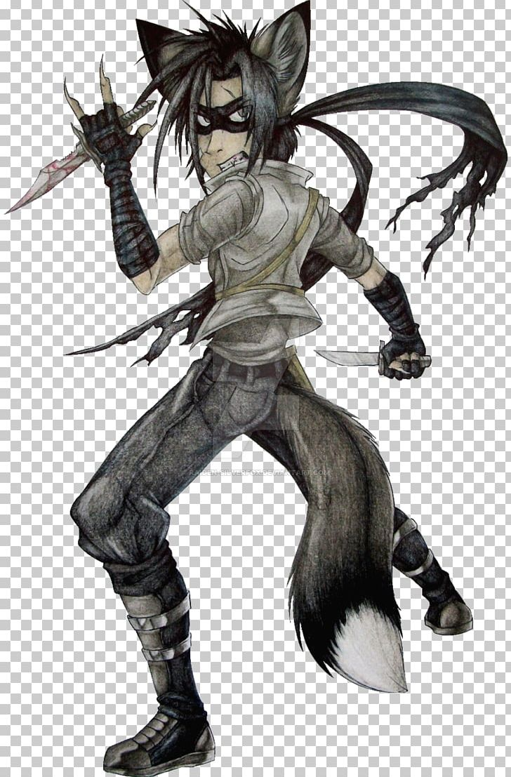 Silver Fox Red Fox Raiden палантин Png Clipart Anime Cold Weapon