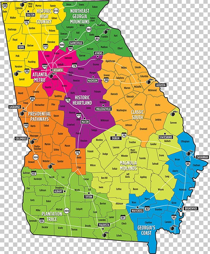 County Map Of Georgia With Roads.Atlanta Road Map Chatham County Png Clipart Airport Area Atlanta