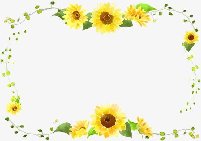 Sunflower Border Curve Decorative Foliage PNG, Clipart ... (650 x 455 Pixel)
