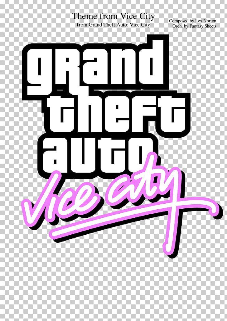 Grand Theft Auto: Vice City Soundtrack Logo Lex Horton PNG
