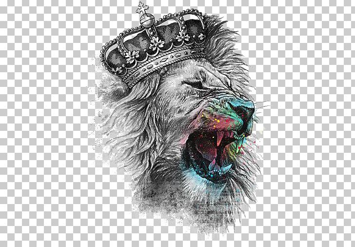 Lion's Head T-shirt Crown Iron-on PNG, Clipart, Animal, Animals, Art, Big Cats, Carnivoran Free PNG Download