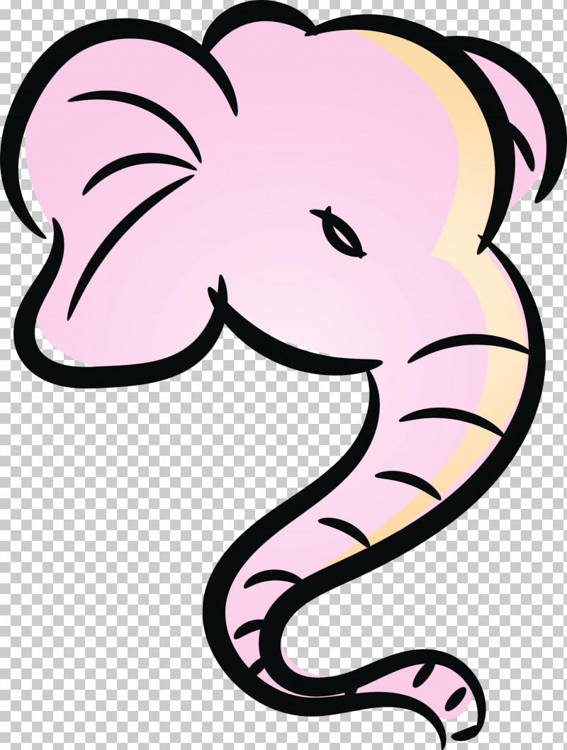 Line Art Cartoon Character Pink M Animal Figurine PNG, Clipart, Animal Figurine, Biology, Cartoon, Character, Character Created By Free PNG Download