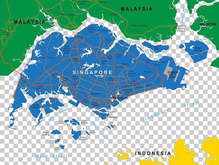 Map Of Asia Showing Singapore.Singapore Map Png Clipart Africa Map Area Asia Map Detailed