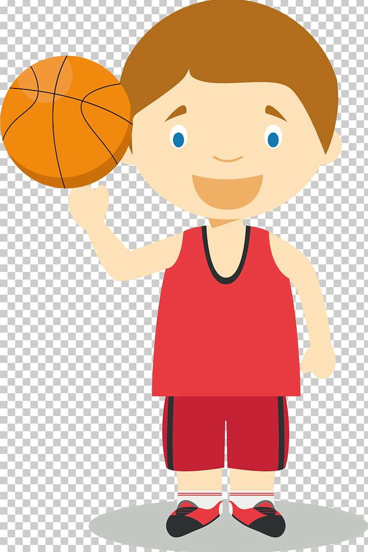 Basketball Player Cartoon Illustration PNG, Clipart