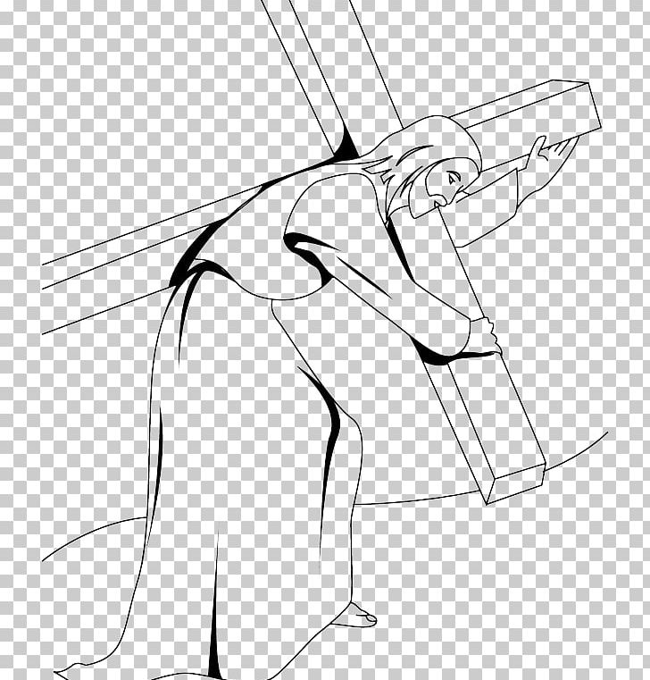 Coloring Book Stations Of The Cross Drawing Christian Cross PNG, Clipart, Angle, Arm, Black, Child, Christianity Free PNG Download
