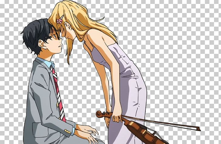 Kousei Kaori Your Lie In April Manga Png Clipart Anime Arm