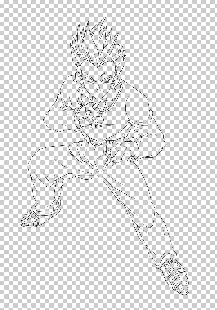 Goku Gohan Vegeta Goten Sketch Png Clipart Angle Arm