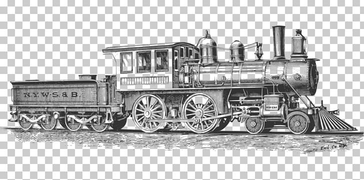 Rail Transport Train Steam Locomotive PNG, Clipart, Black