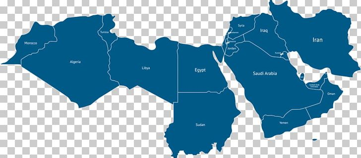 Middle East North Africa MENA World Map PNG, Clipart, Blue ...