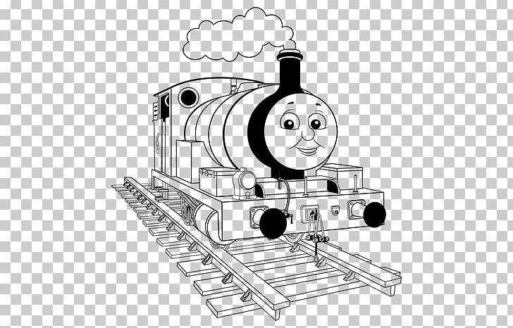 Thomas Train Drawing Coloring Book Rail Transport Png