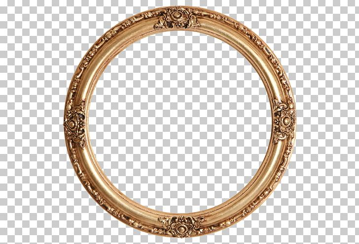 Frames Gold Leaf Mirror Circle PNG, Clipart, Bangle, Body