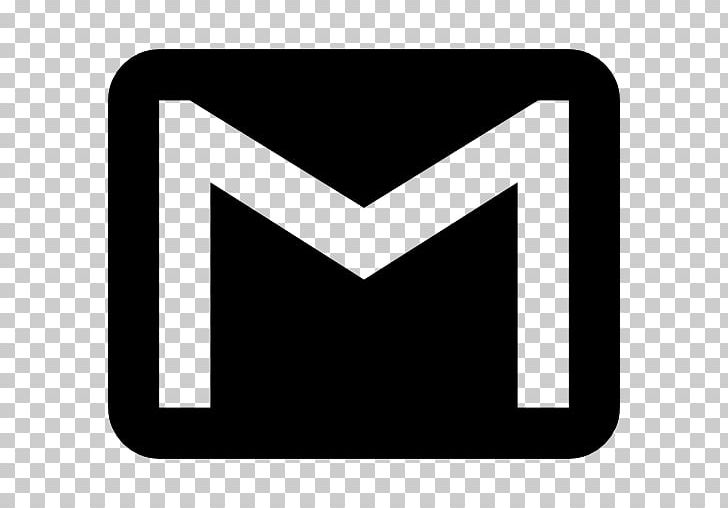 Gmail Computer Icons Logo Email PNG, Clipart, Angle, Black, Black And White, Brand, Cdr Free PNG Download