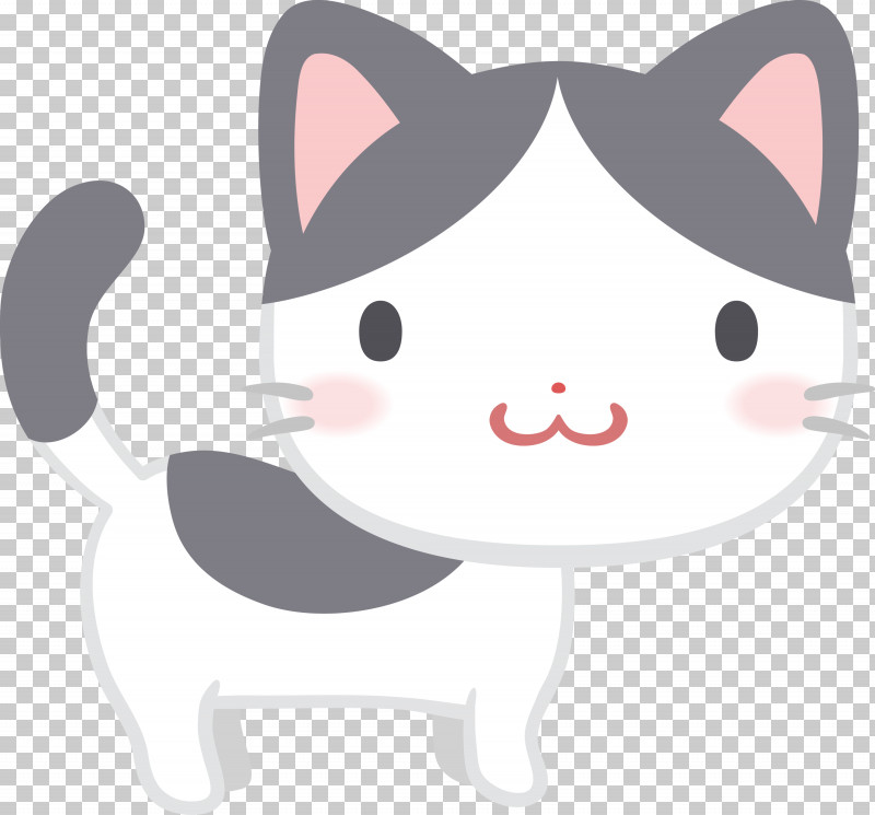 Cartoon Nose Whiskers Cat Snout PNG, Clipart, Cartoon, Cat, Kitten, Nose, Small To Mediumsized Cats Free PNG Download