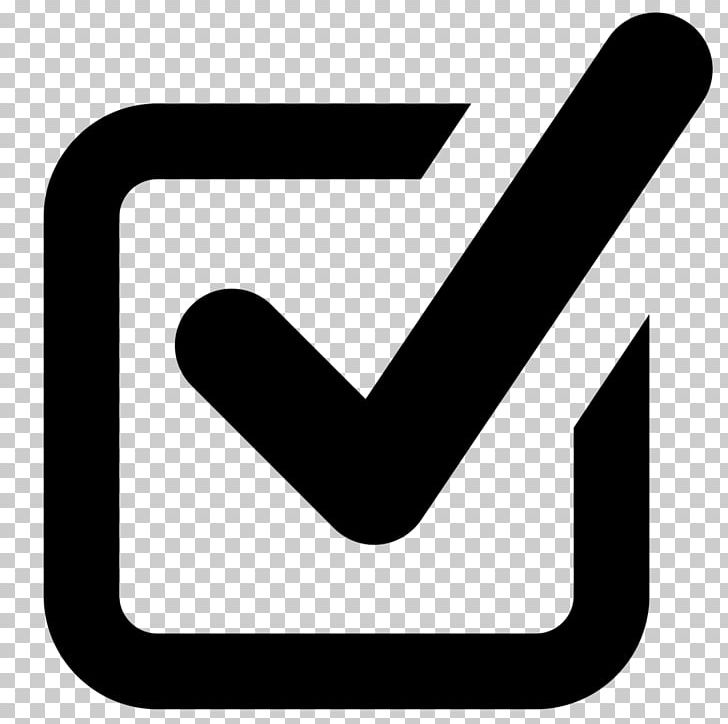 Check Mark Checkbox Computer Icons Symbol PNG, Clipart, Angle, Area, Black And White, Checkbox, Check Mark Free PNG Download