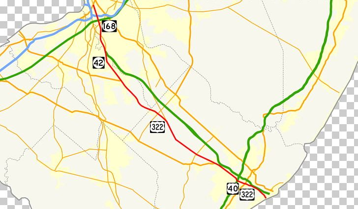 Road Map Black Horse Pike U.S. Route 322 PNG, Clipart, Area ...
