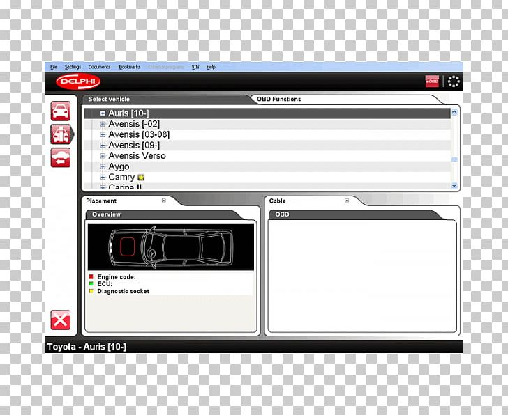 Car Computer Software On-board Diagnostics Scanner OBD-II PIDs PNG