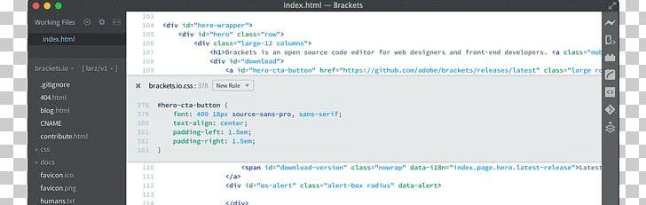 Brackets Computer Software Text Editor Source Code Editor Programmer