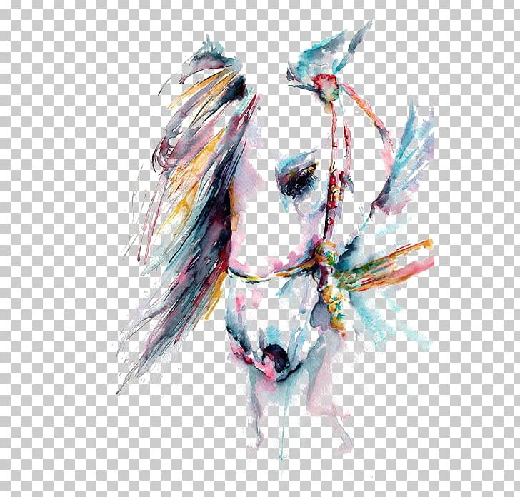 Horse Watercolor Painting Art White PNG, Clipart, Animals, Art, Canvas, Color, Colored Free PNG Download