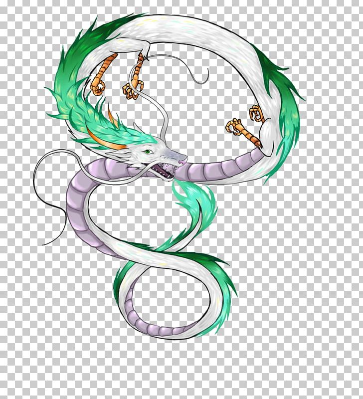Haku Dragon Line Art Png Clipart Art Body Jewelry Circle Dragon Drawing Free Png Download