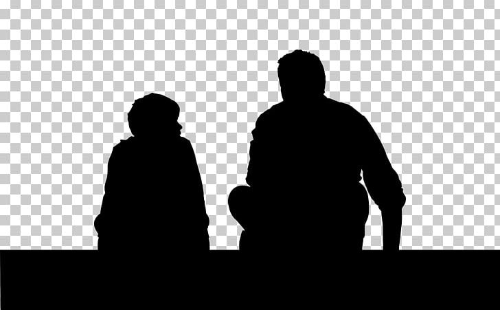 Father Son Child Silhouette Png Clipart Black And White
