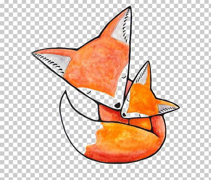 Infant Mother Fox Drawing Png Clipart Animals Art Baby Shower Cartoon Cartoon Fox Free Png Download