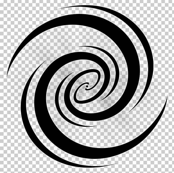Galaxy white. Spiral circle symbol png